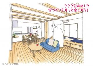 全館空調の構造現場で焼津市カシコイ家づくり相談会