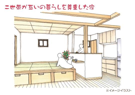 【予約制】二世帯が互いの暮らしを尊重した家|静岡市清水区完成見学会