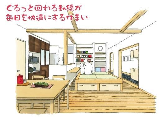 ぐるっと回れる動線の快適住まい|富士宮市完成見学会