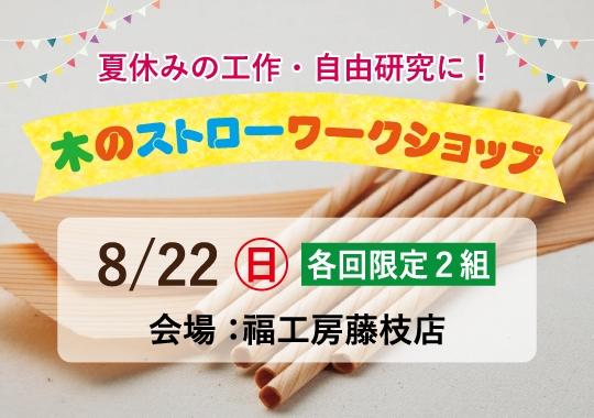 藤枝展示場 木のストローワークショップ【予約制】