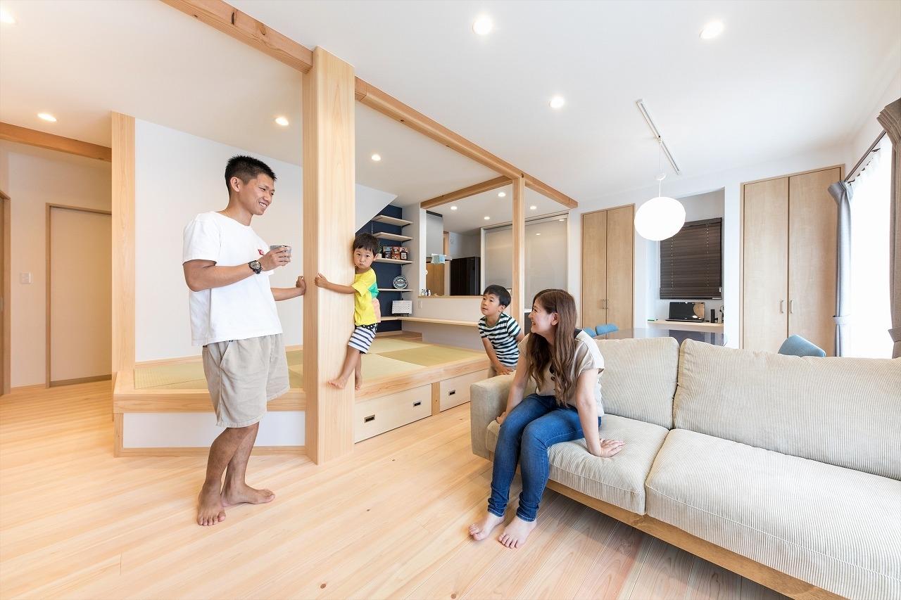 家族も来客も居心地の良い二世帯が暮らす家