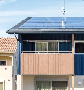 静岡の太陽光発電の家